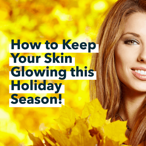 Woman with smile, how to keep your skin glowing for the holidays, Aura MedSpa